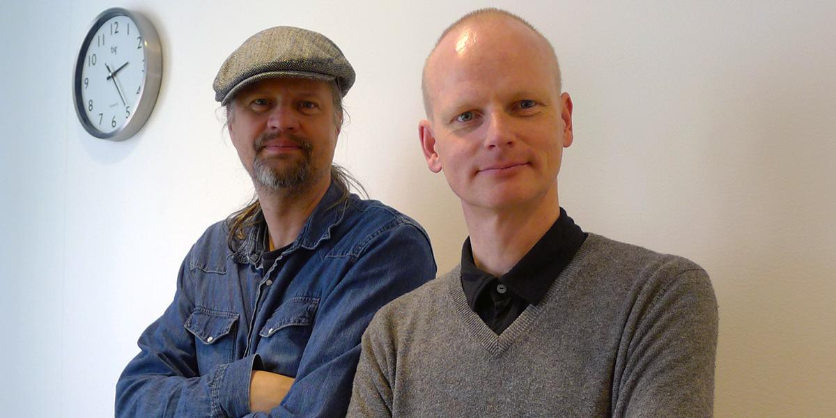 "Burt von Bolton och Magnus ""Ny-Magnum"" Nilsson (foto: Kia Toivonen)"