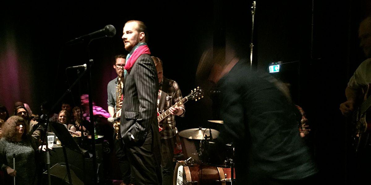 Max Landergård as Loa Falkman at the 20th anniversary of Stockholm club Sunkit (photo: Magnus Nilsson)