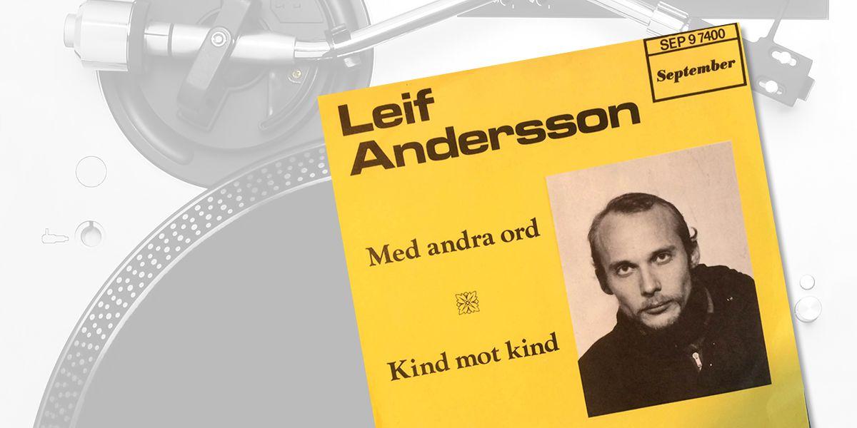 Leif Andersson: Med andra ord / Kind mot kind, detalj från skivomslag