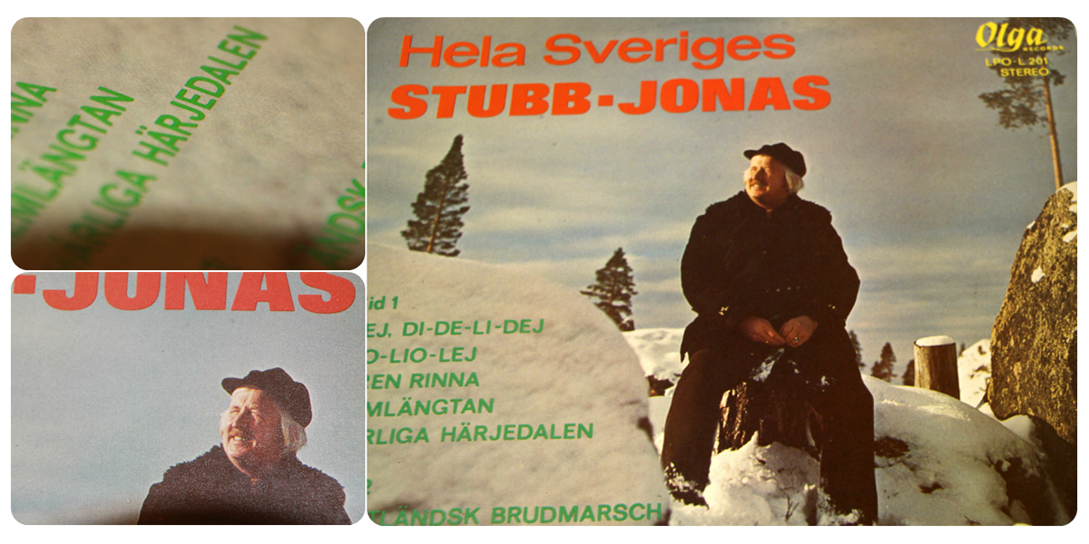 Hela Sveriges Stubb-Jonas på en stubbe