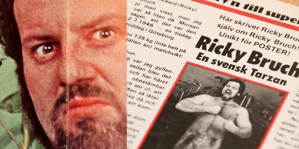 Ricky Bruch och stolen som satts sönder hemma hos Bert Karlsson