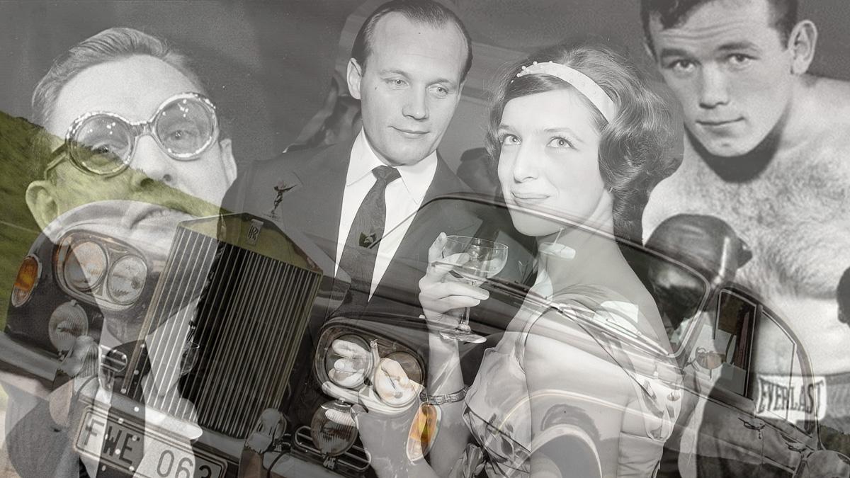 Henning Sjöström med polarna Rolf Björling och Ingemar Johansson (kollage)