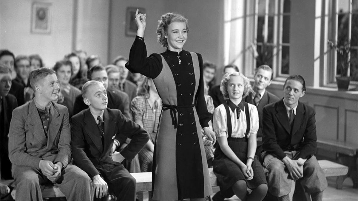 Alice Babs i filmen Swing it, magistern!